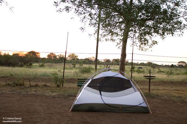 Camping spot at Satara