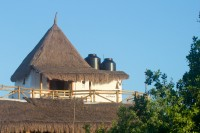 The Palapita del Amor perched on top of the hotel