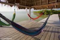 Hammocks at the lagoon dock.
