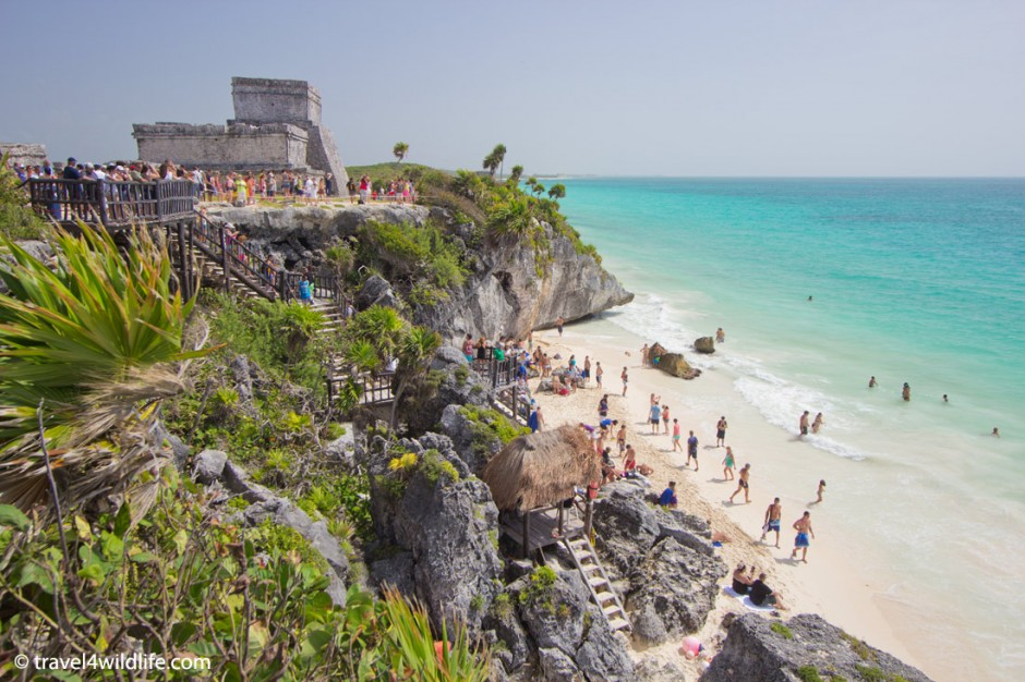 Tourist insanity at the Maya ruins of Tulum