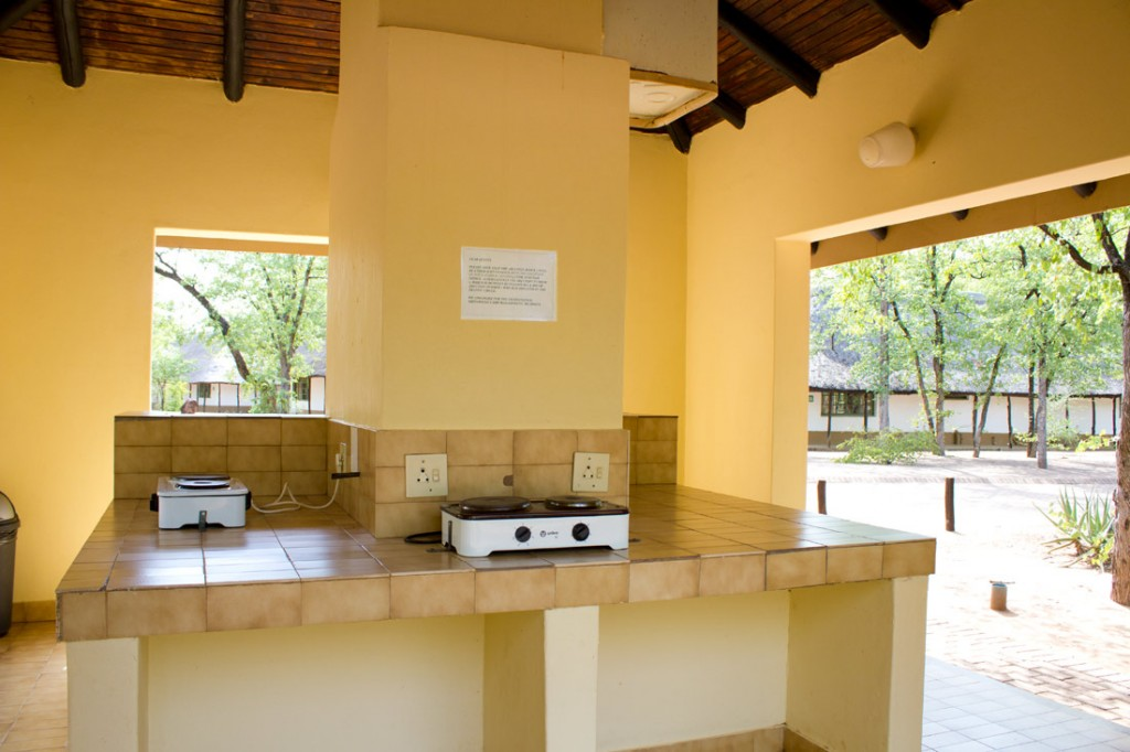 In South African national parks, the kitchen facilities are great