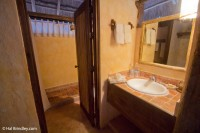 Spacious bathroom in our room at Puerta Calakmul