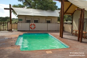 The pool at the Kalahari Tented Camp