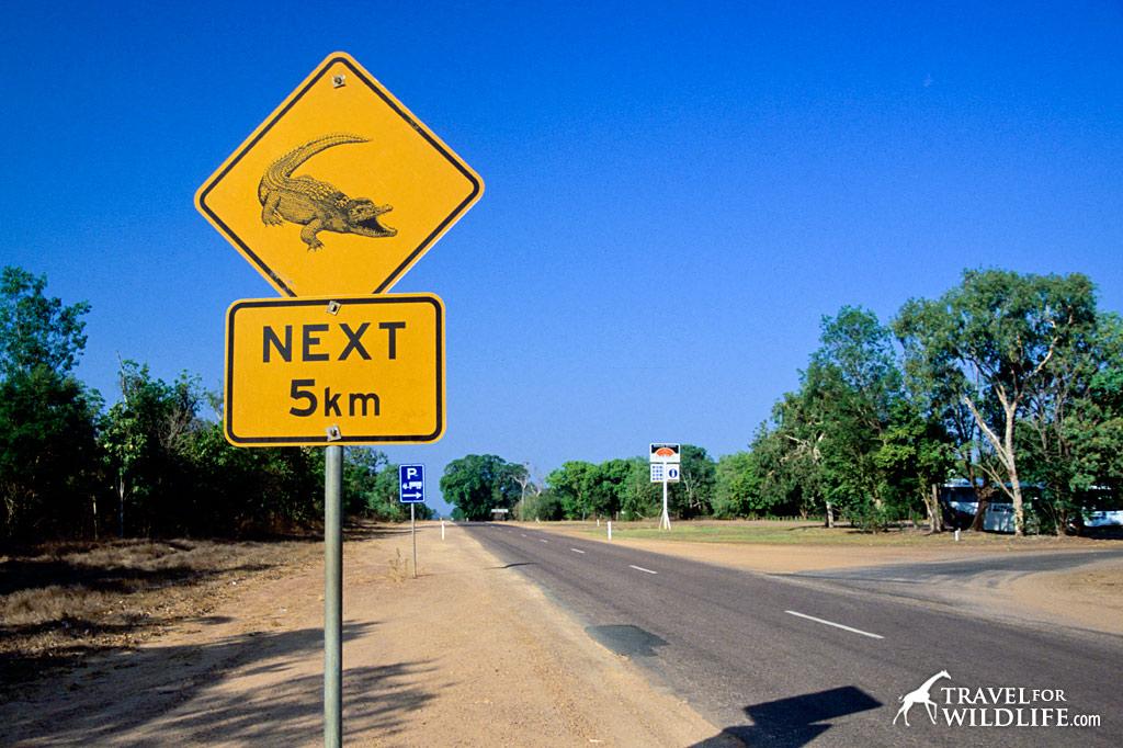 Crocodile crossing sign, Australia