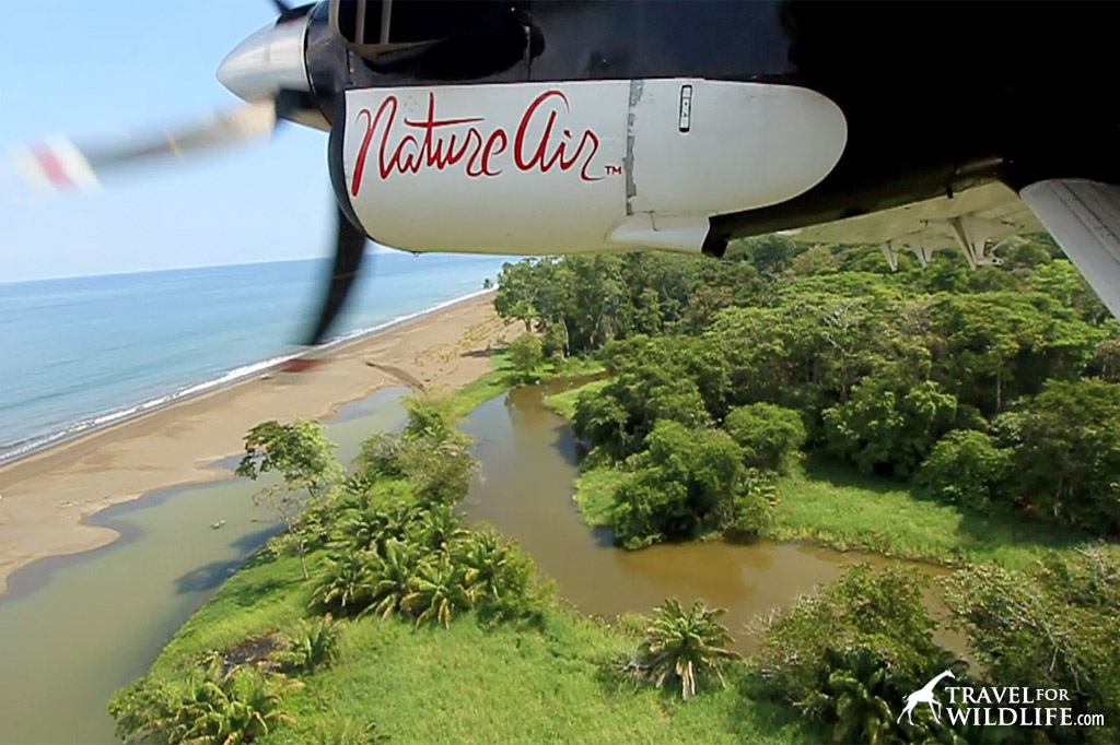 Flying above Costa Rica's beaches with Nature Air