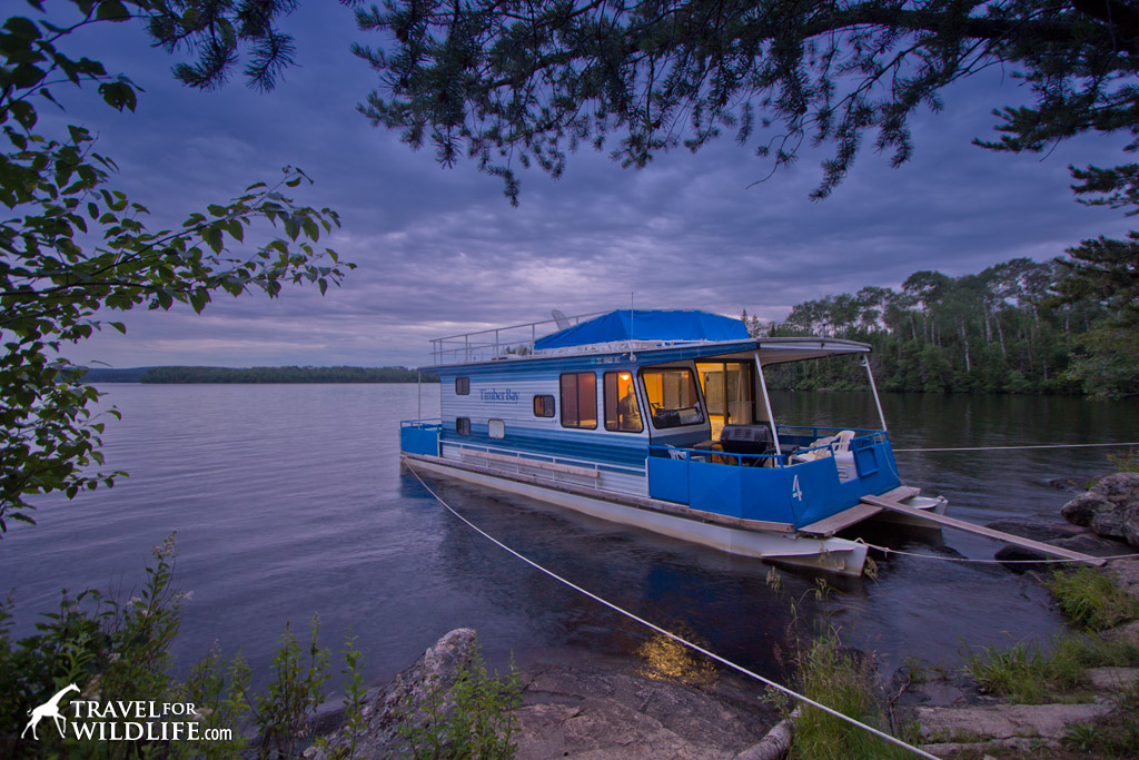 One of the houseboat rentals on Birch Lake, Minnesota