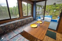 The dining area of our houseboat. Nice view huh?