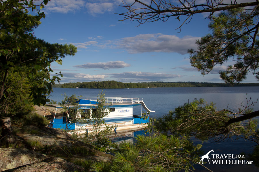 Our houseboat on Birch Lake