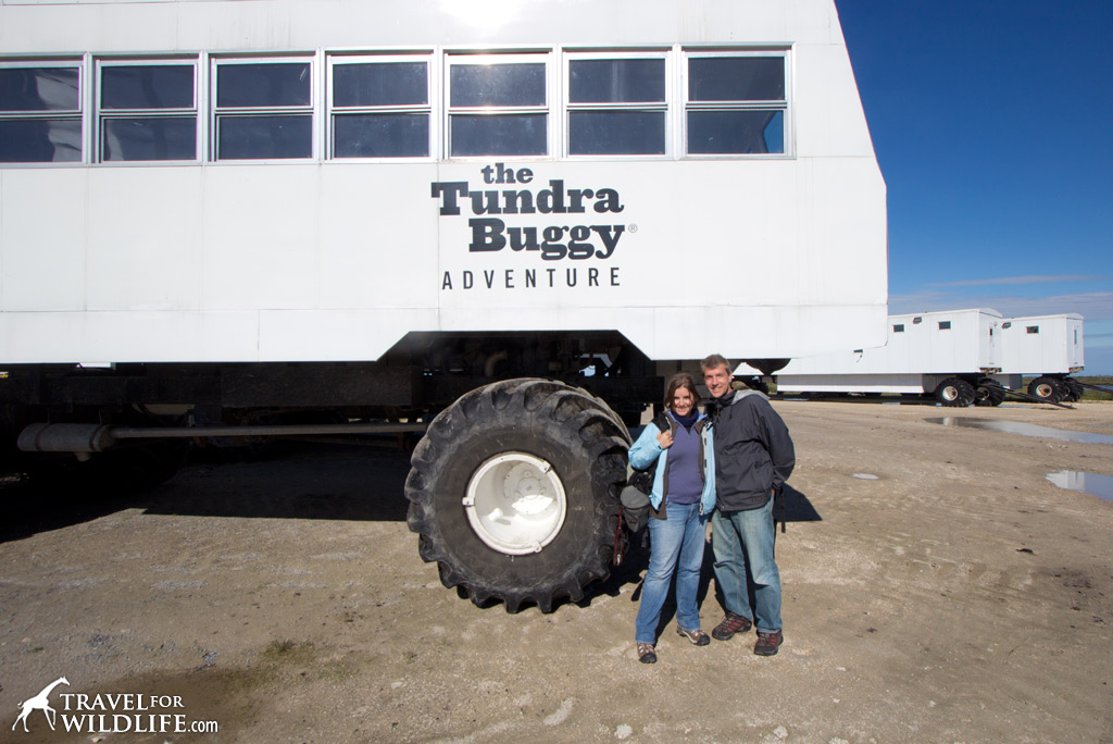 This is the Tundra Buggy that took us out to see polar bears in the middle of summer!