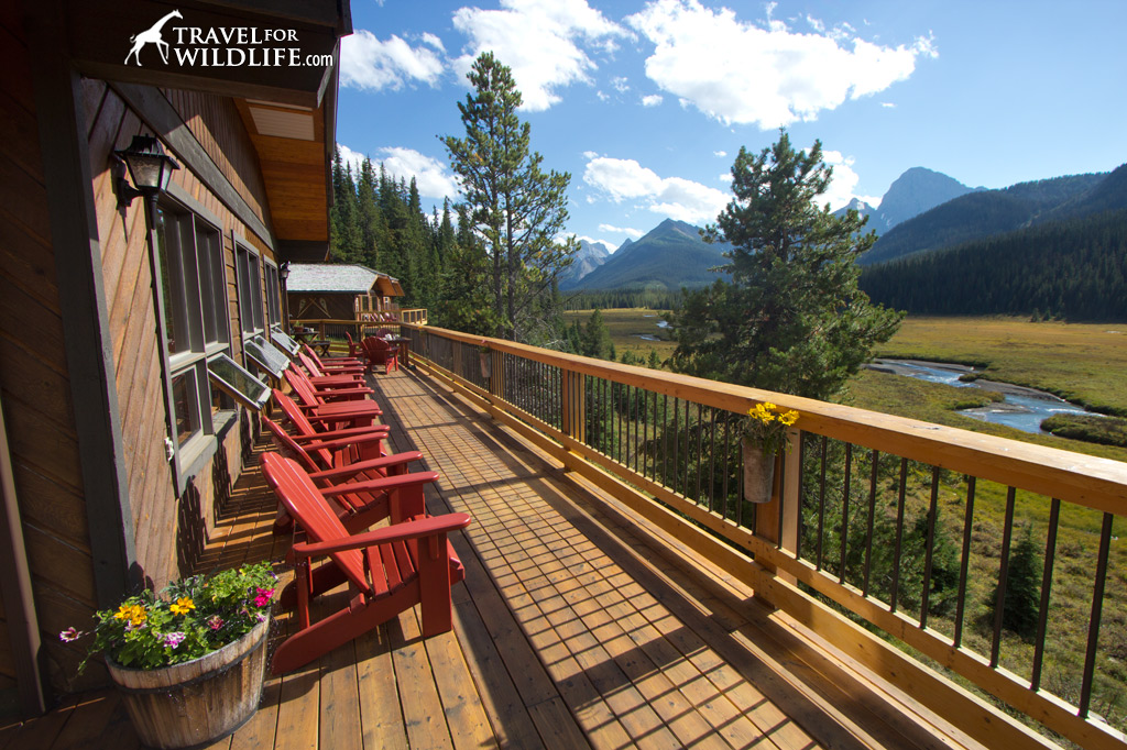 Mount Engadine Lodge offers some of the best views of the lodges at Canmore
