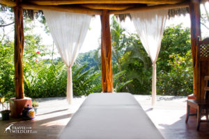Spa room with costa rica rainforest view