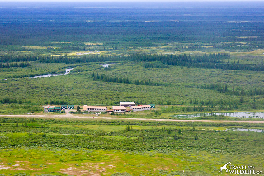 Nanuk lodge from the air