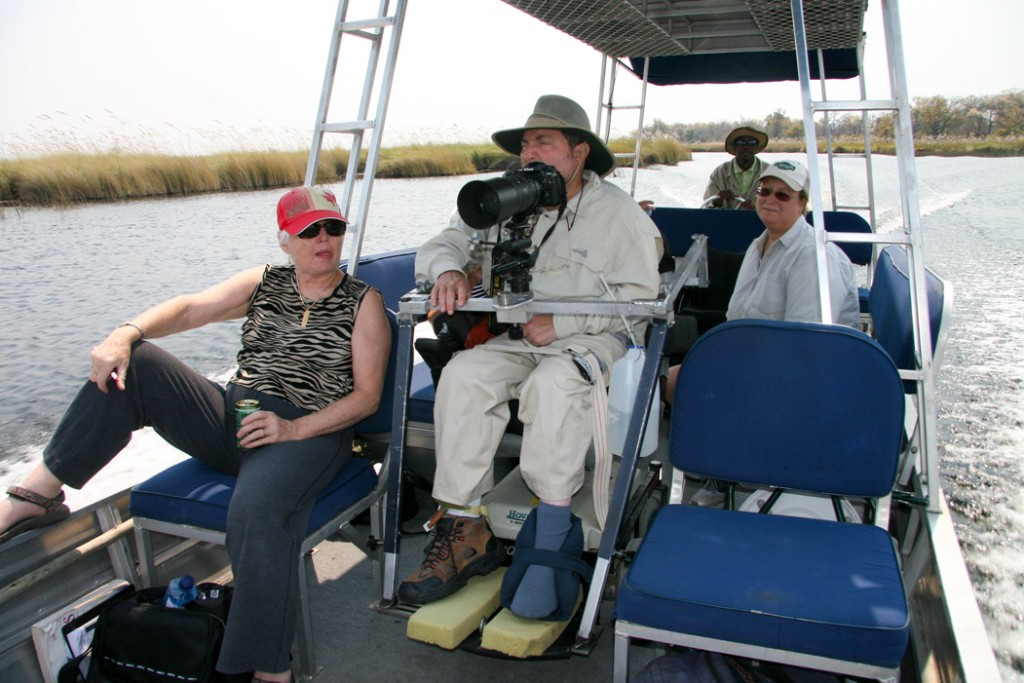 A river boat safari in Chobe