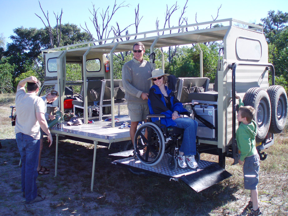 wheelchair safari vehicle ramp