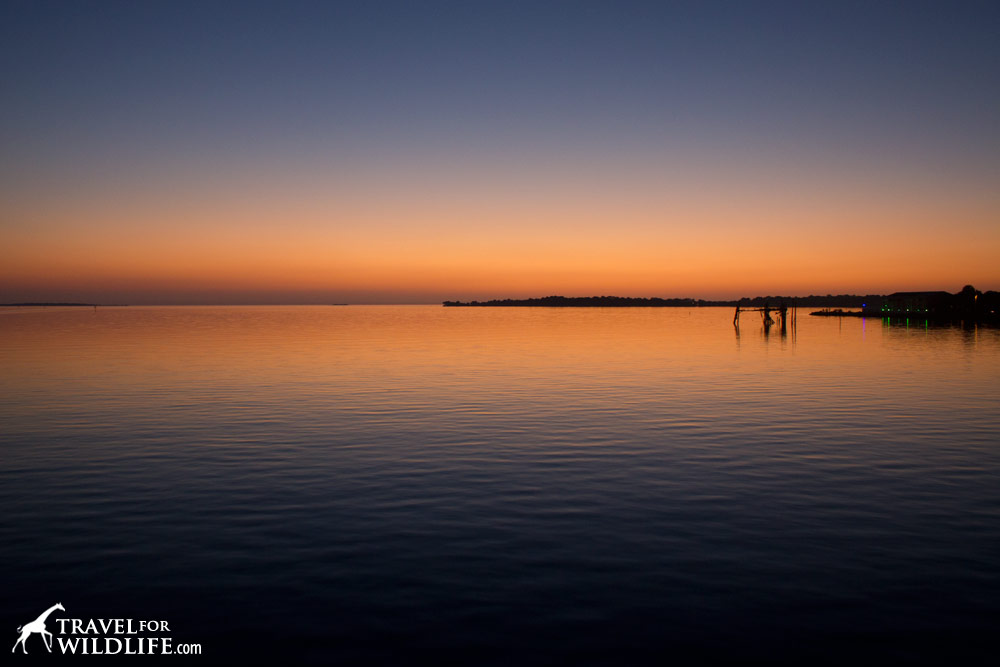 Sunset as seen from Cedar Key, Florida