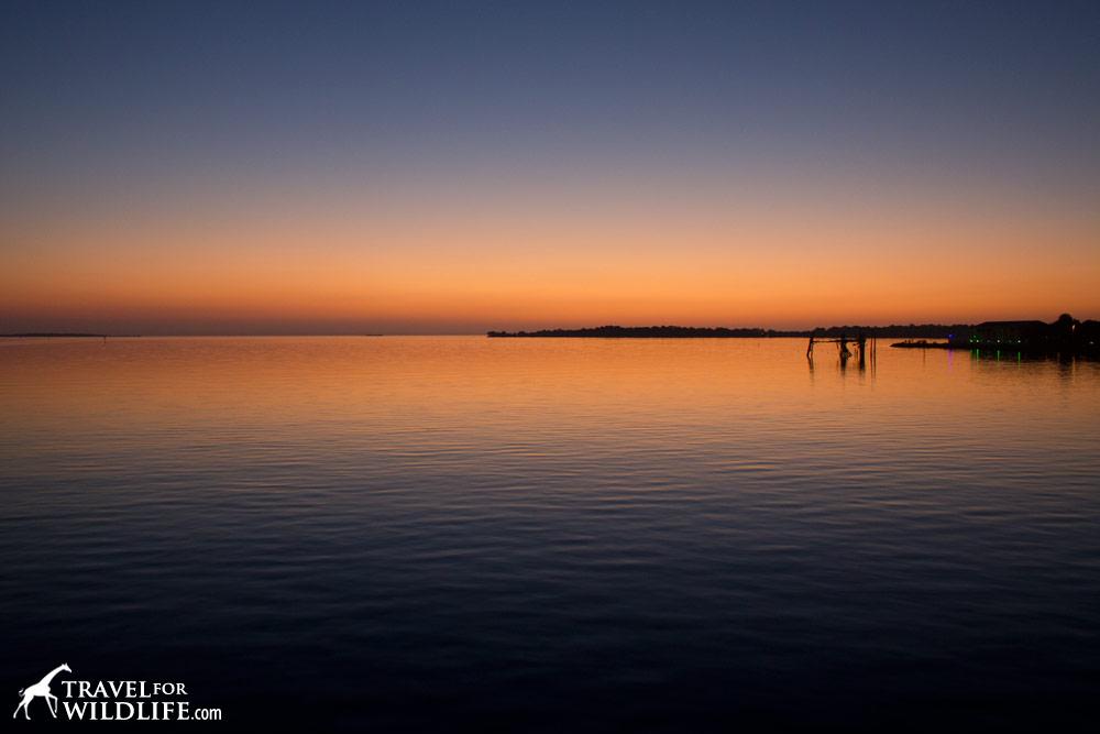 Sunset as seen from Cedar Key, Florida