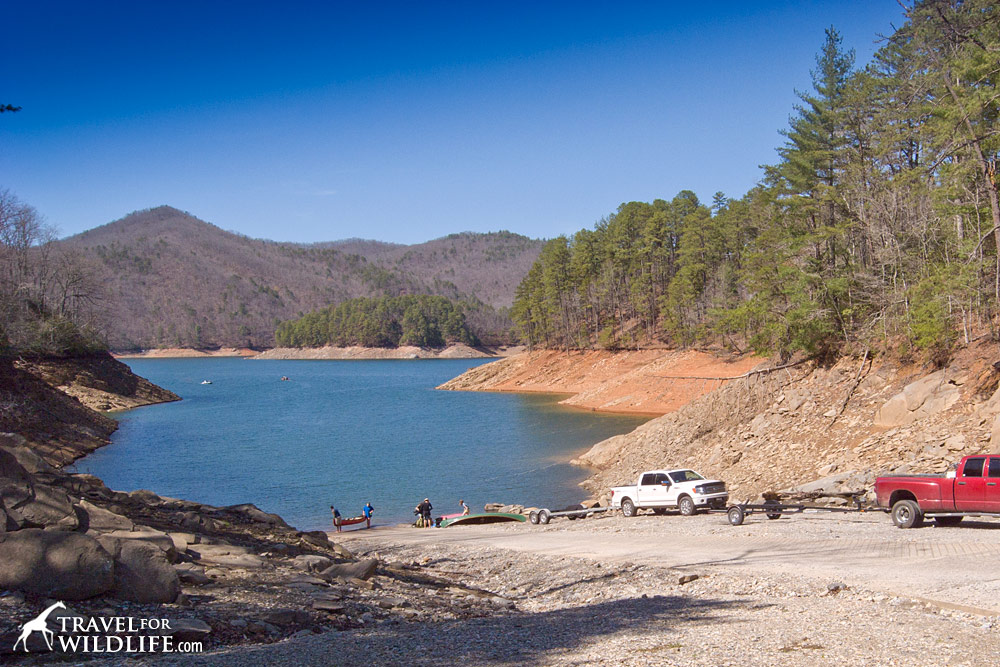 kayak camping in the great smoky mountains national park on fontana lake
