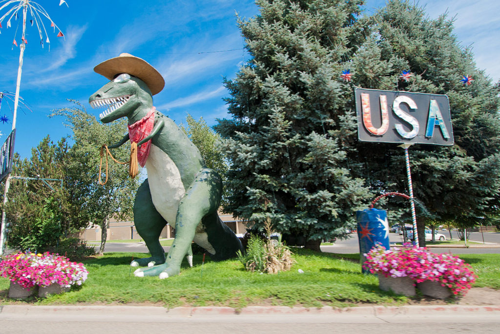 dinosaur tourism in Vernal, Utah, USA. © Hal Brindley