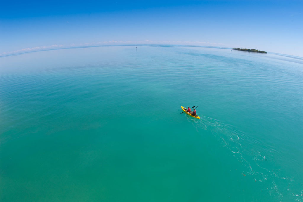 kayakers in Indian Key Channel near Lower Matecumbe, Florida Keys, USA © Hal Brindley