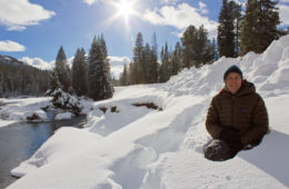 Sunny Yellowstone in the winter