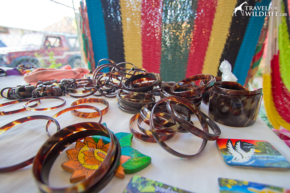 Turtle shell bracelets for sale in San Juan del Sure