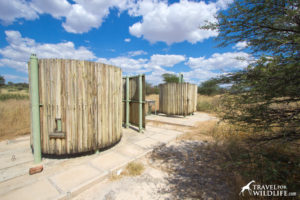 toilet and shower at Bosobogolo site 1, Mabuasehube