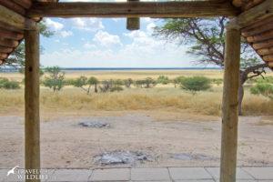 Bosobogolo 02 view from campsite, Kalahari camping in Botswana