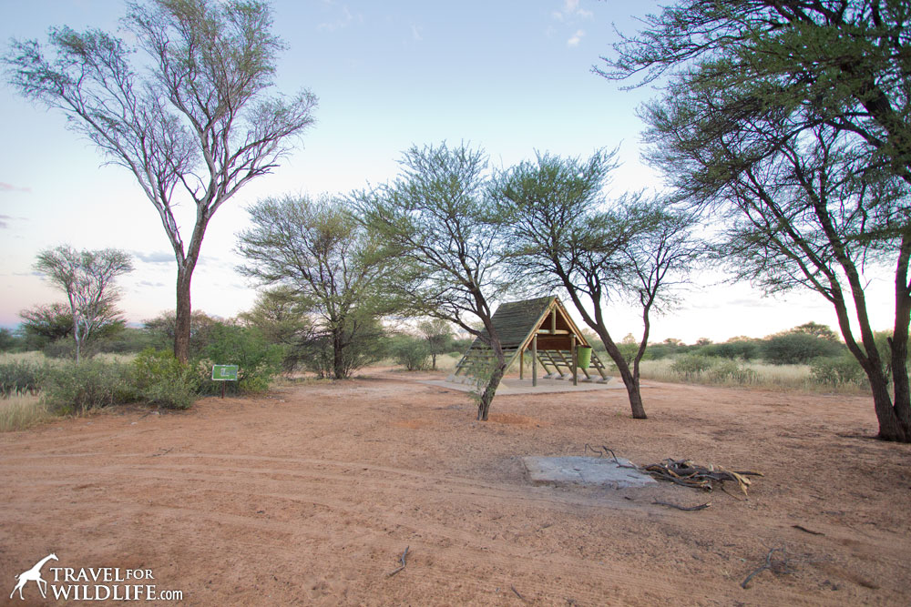 Entrance Gate Campsite 3 (KT-ENT03) in Mabuasehube, Kgalagadi Transfrontier Park, Botswana