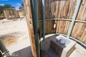 Kalahari spiral toilet enclosure, Khiding 02, Mabusehube, Botswana