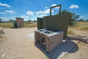 Lesho 02, Shower and toilet, Lesholoago campsite 1, Mabuasehube, Kgalagadi Transfrontier Park, Botswana