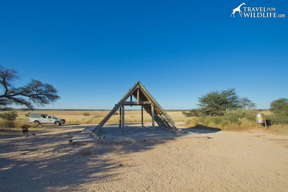 Mabua 02 campsite in Mabuasehube, Kgalagadi Transfrontier Park, Botswana