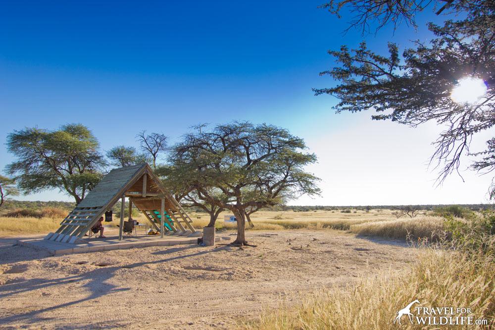 Mabua 4 campsite, Mabuasehube Game Reserve, Kgalagadi Transfrontier Park, Botswana