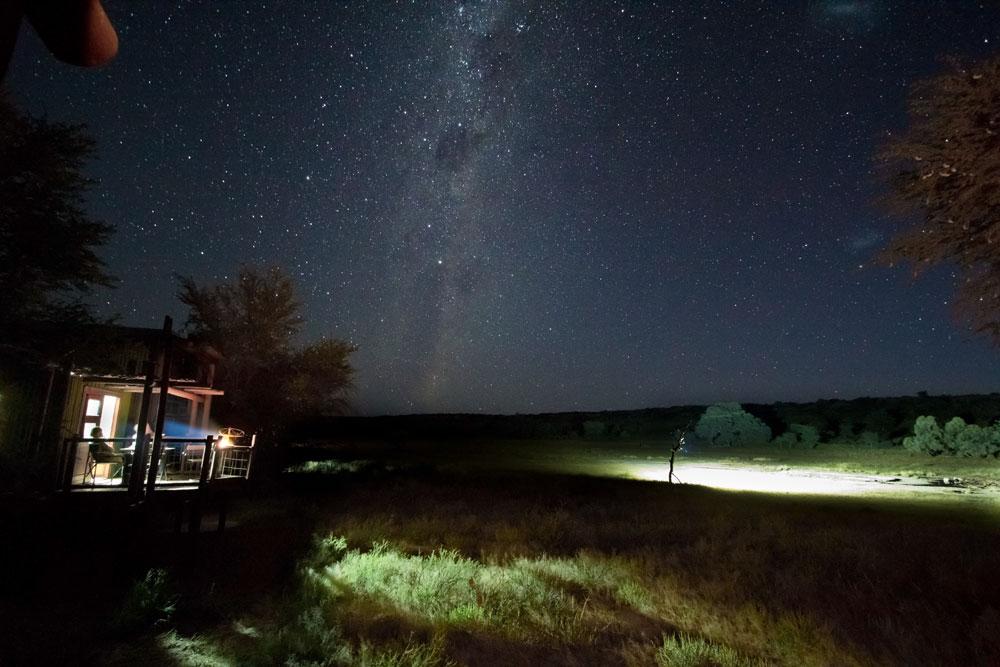 Night sky from Urikaruus wilderness camp