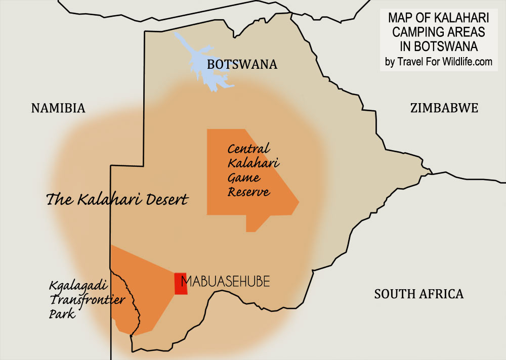 Kalahari Desert Map, Kgalagadi Map