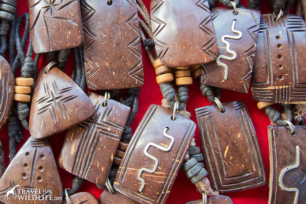 Coconut shell necklaces, Nicaragua