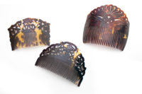 Hawksbill turtle shell haircombs confiscated by US Fish and Wildlife Service