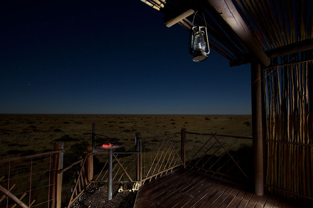 The Kalahari during full moon