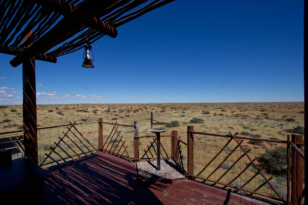Kalahari camp cabin deck