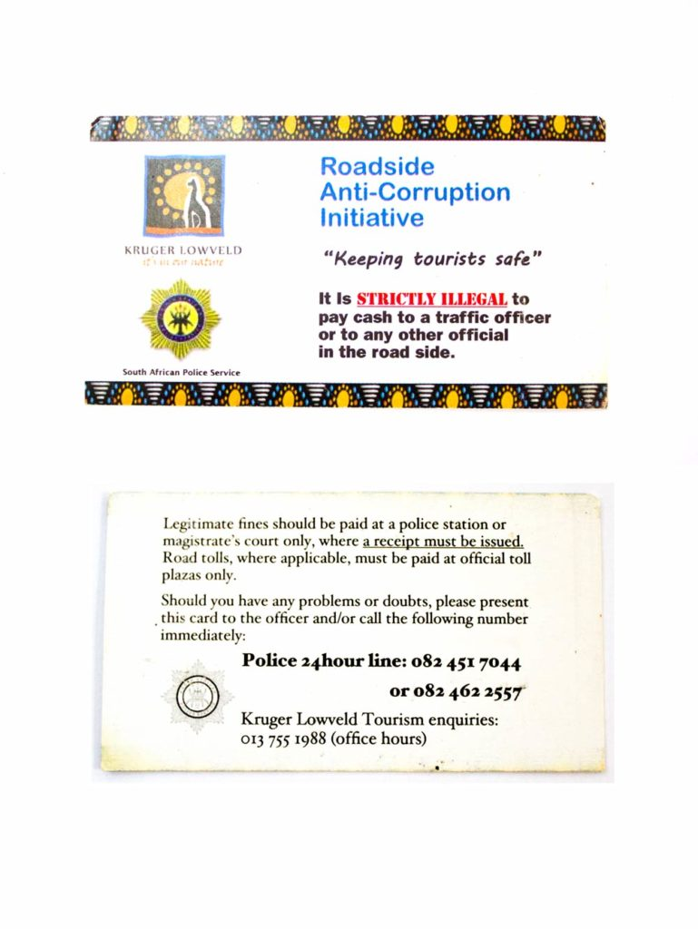 Safety in Panorama route card