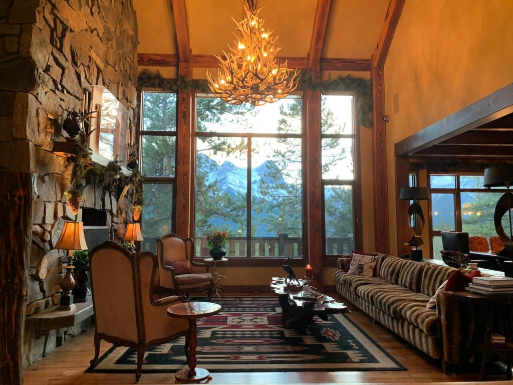 Interior of a Banff cabin in Canmore