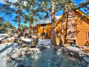 estes park cabins with hot tubs