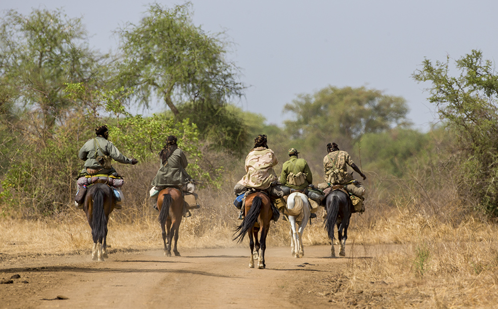 Zakouma National Park rangers on patrol
