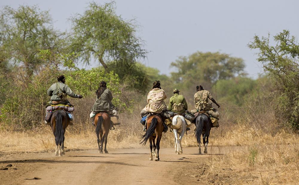 Zakouma National Park rangers on patrol