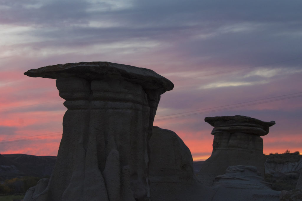 The hoodoos in the Canadian Badlands