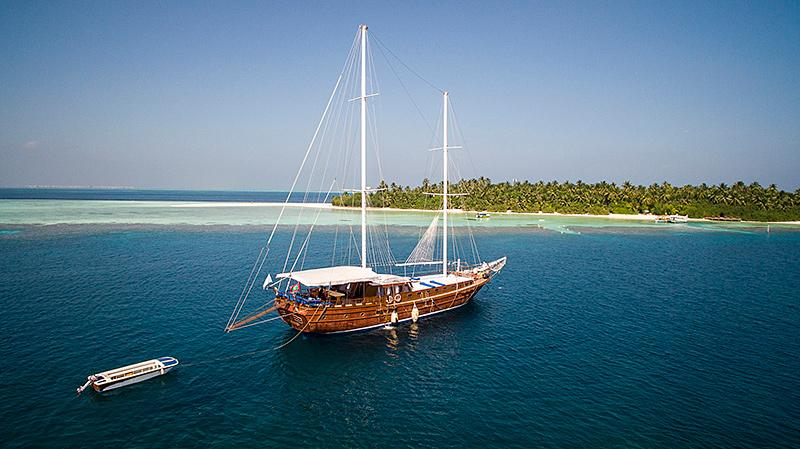Turkish gulet in a Maldives cruise. Gulet cruise