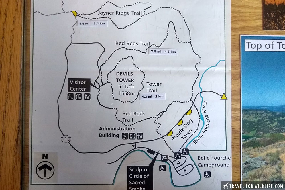 devils tower map