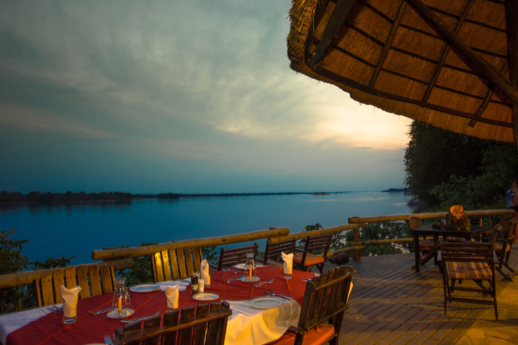River view from restaurant outside area